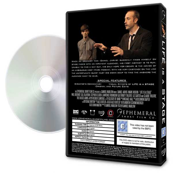 Life Is A Stage DVD box and disc art